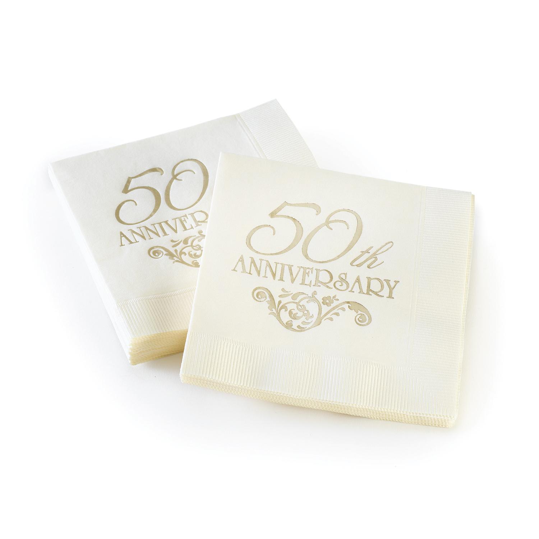 50th anniversary wedding napkins