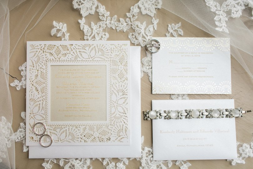 square laser cut invitation