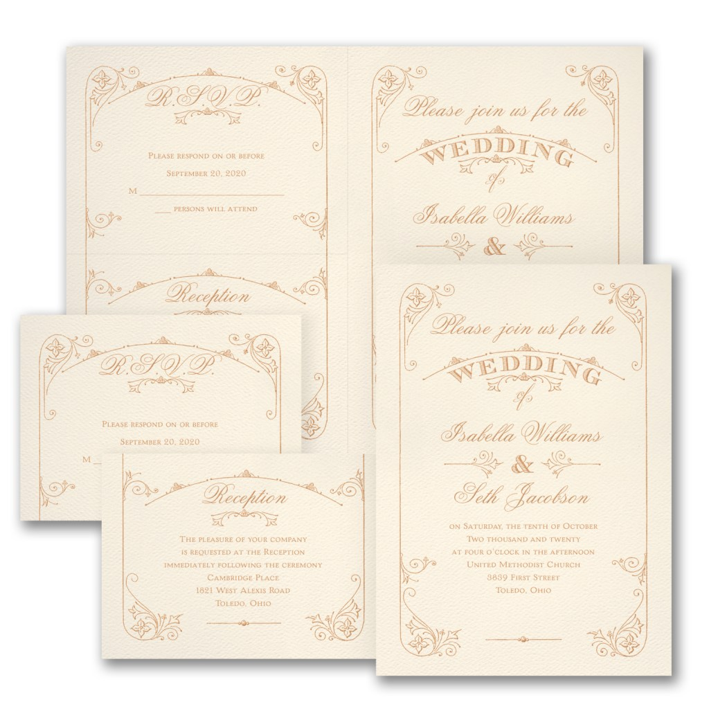 charming romance invitation budget friendly