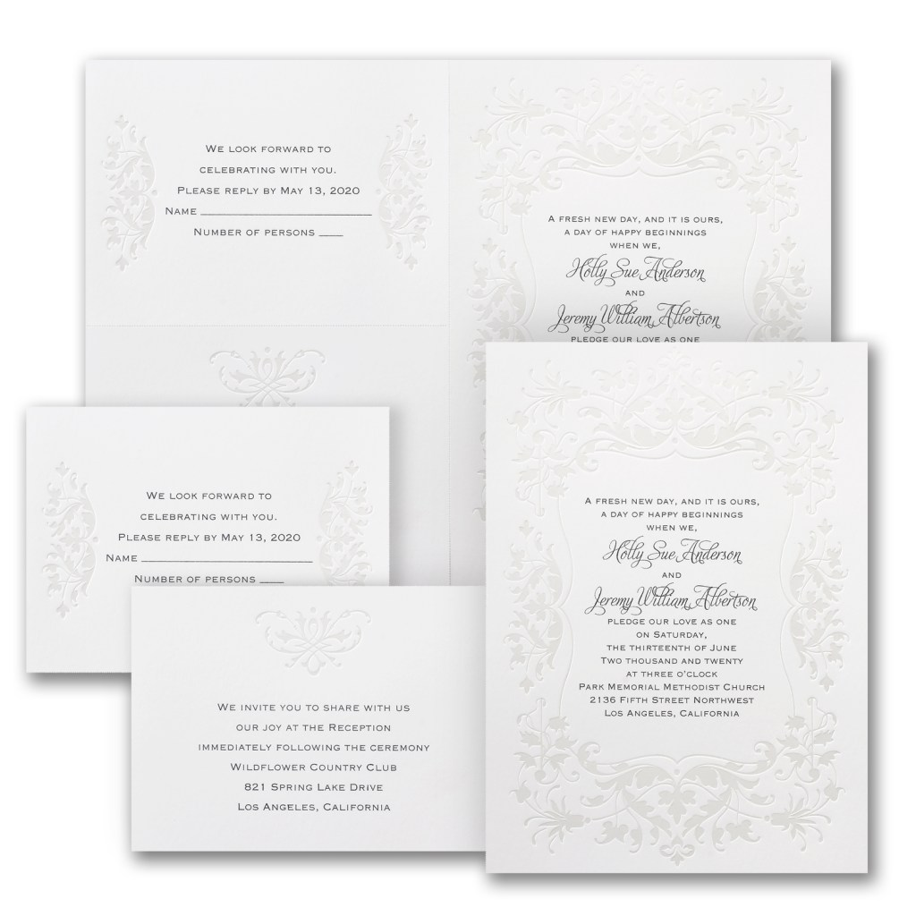 darling romance wedding invitation budget friendly