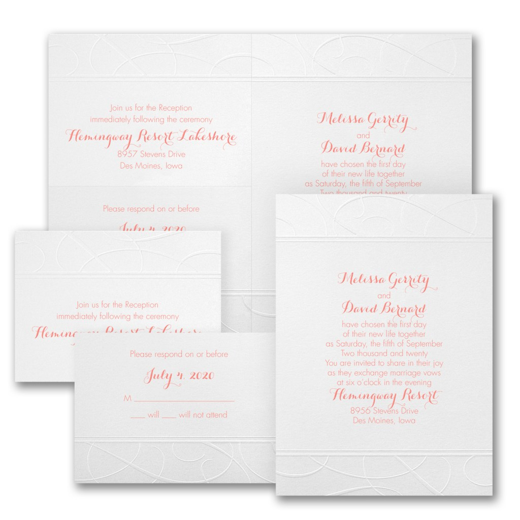 dazzling swirls wedding invitation budget friendly