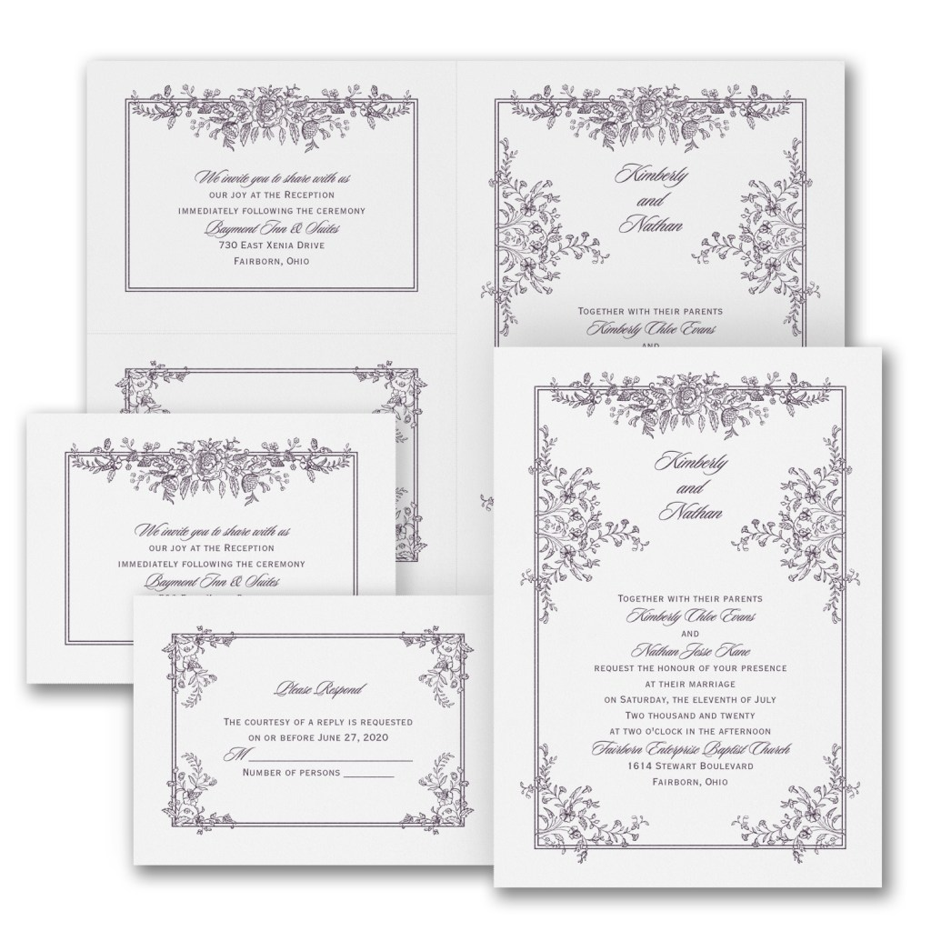 delicate entrance wedding invitation budget friendly