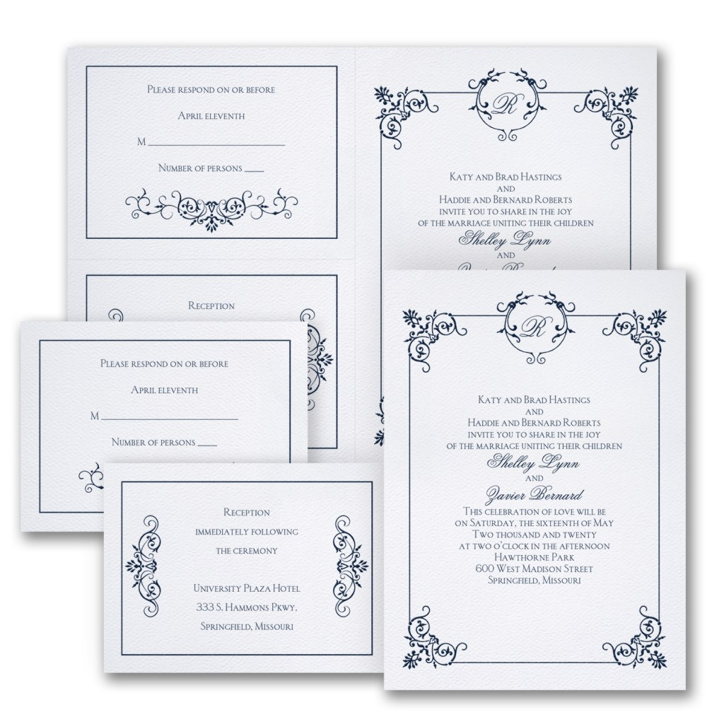 elegant affair wedding invitation budget friendly