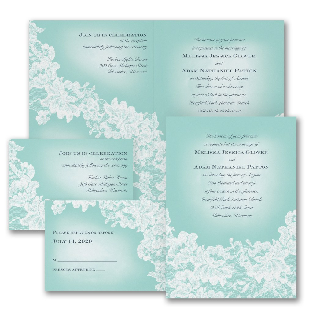 lace wedding invitation budget friendly