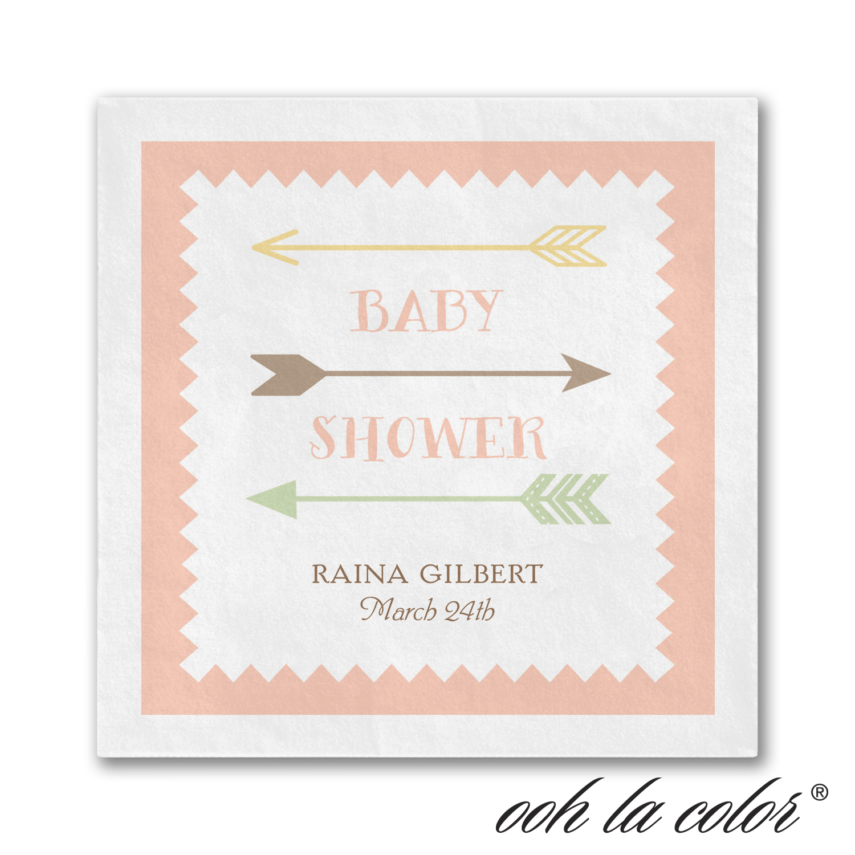 little arrows baby shower napkin