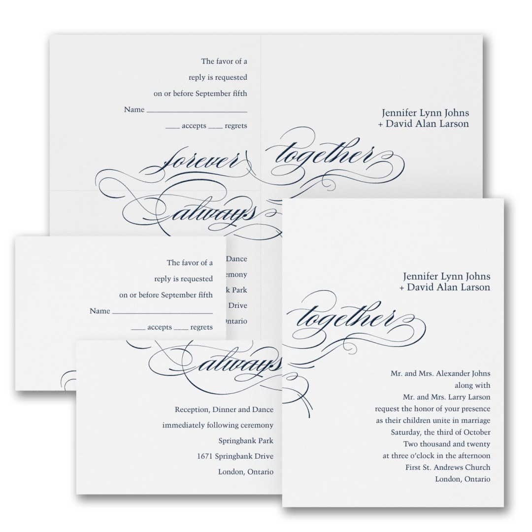 typography wedding invitation budget friendly
