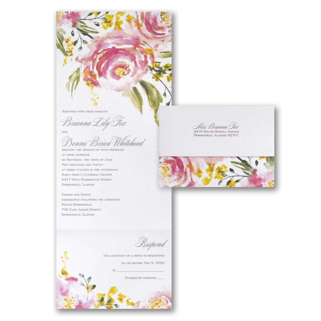 rose seal 'n send invitation