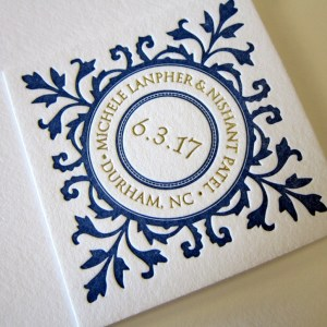 letterpress invitation tag