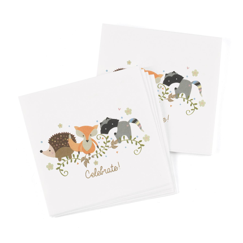 woodland animals napkin baby shower