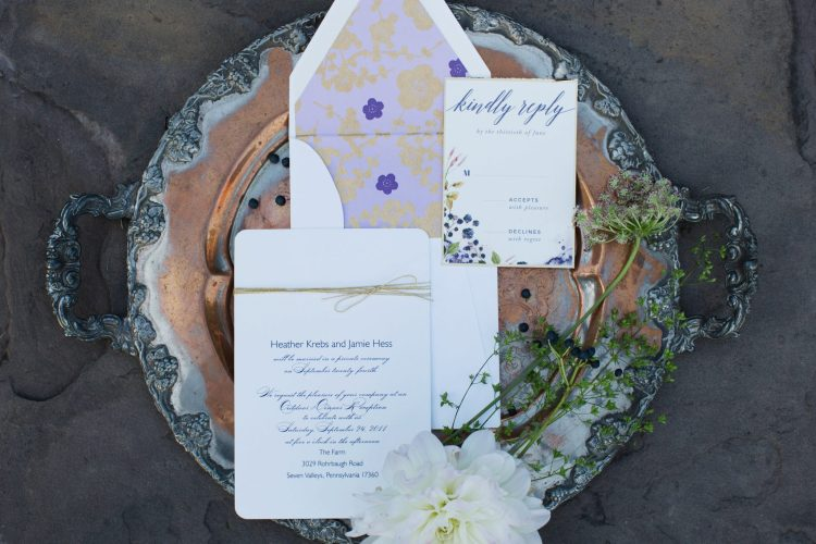 Boho wedding invitation
