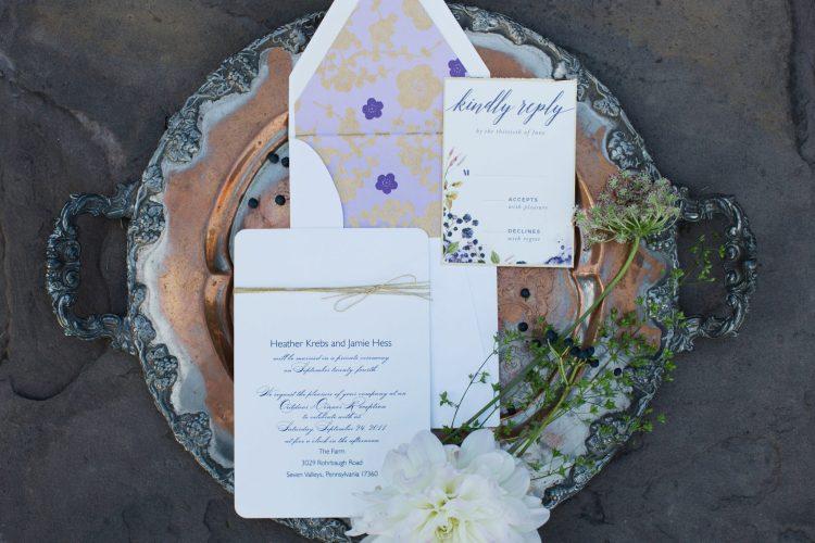 Boho wedding invitation