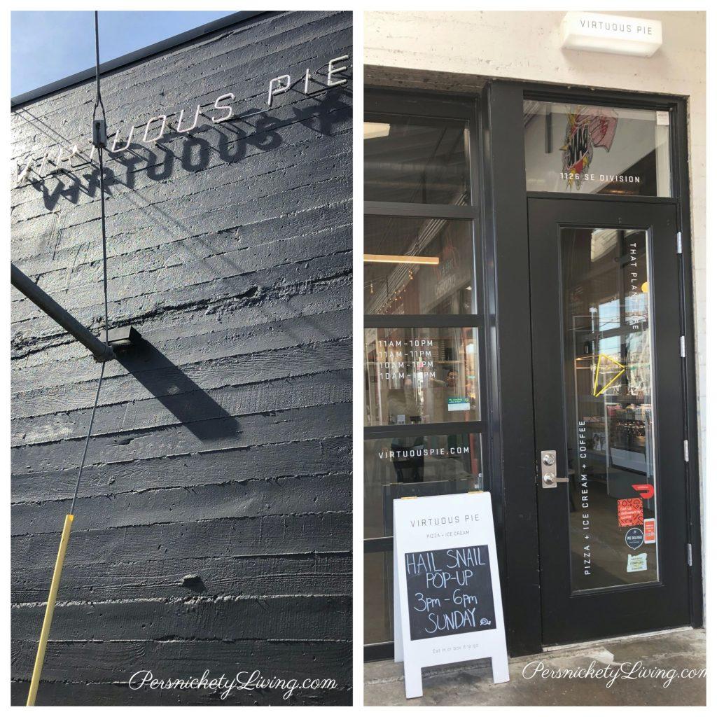Building & Entrance to Virtuous Pie