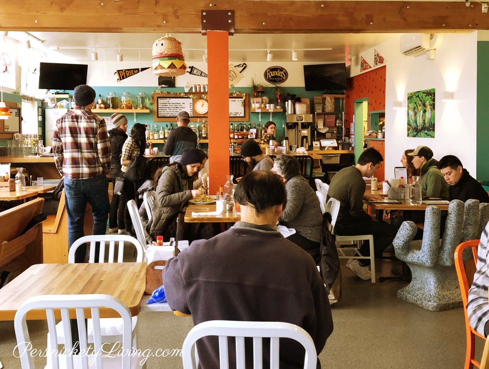 Interior Off the Griddle vegan-friendly restaurant in portland
