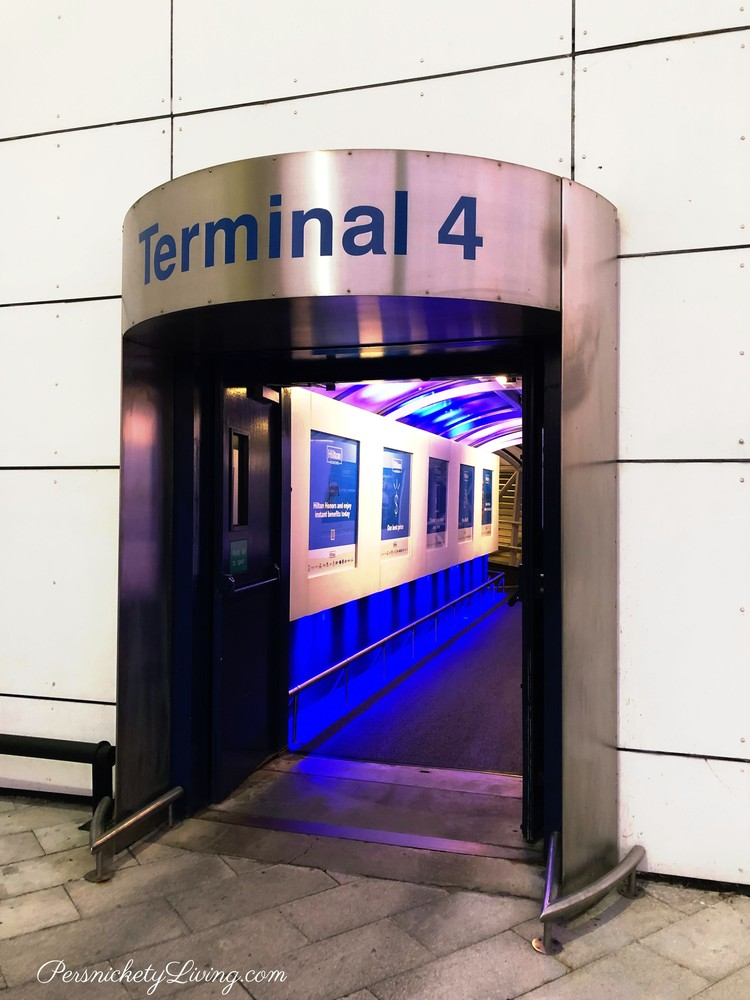 Entrance T4 covered walkway heathrow london