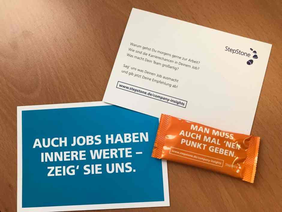 Vermarktungspackages für die Arbeitgeberbewertungen auf StepStone unter www.stepstone.de/company-insights