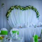 весілля в зелених тонах