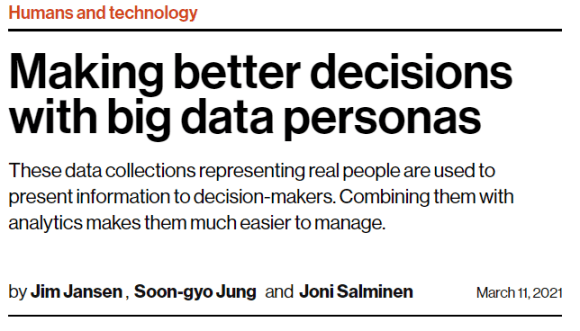 Making better decisions with big data personas