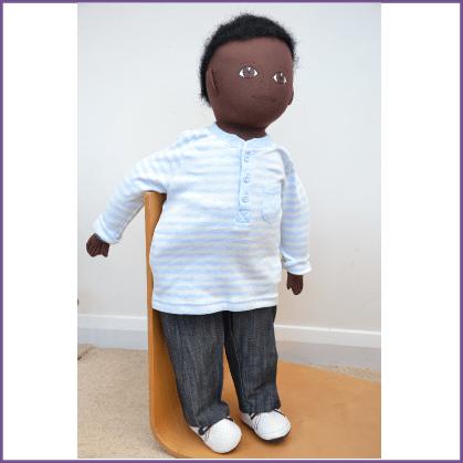 African/African Caribbean boy (Plump)