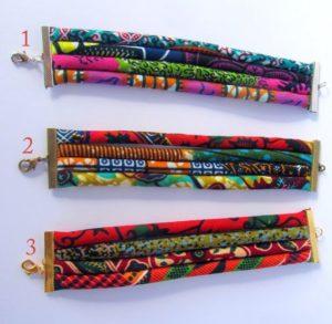African Print Cuff Bracelets