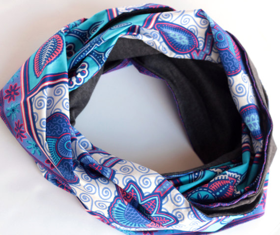African Print Infinity Scarf