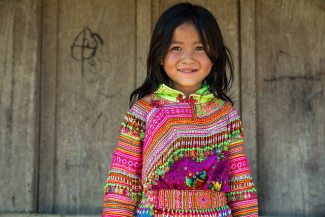 Hmong girl in traditional dress