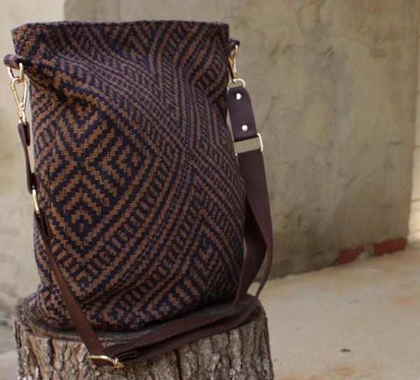 Brown Upholstery Diaper Bag