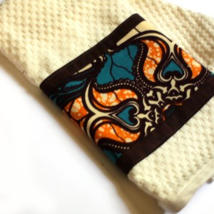Ankara Paisley Cream Hand Towel
