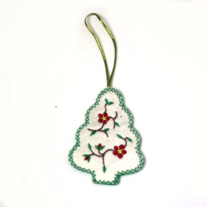 Embroidered Christmas Tree Ornament
