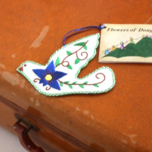 Blue peace dove ornament