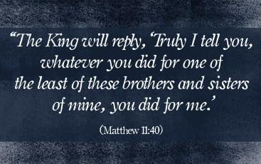 Matthew 11 40 least of these
