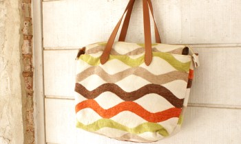 Zipper Tote Carpet Purse