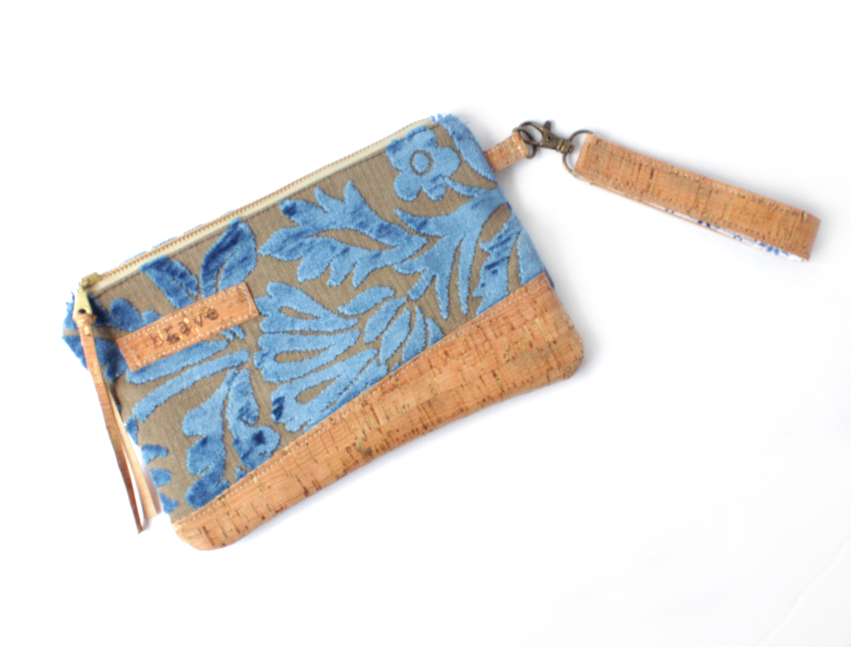 Chenille Tapestry Cork Bag Clutch