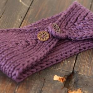 Plum Winter Headband