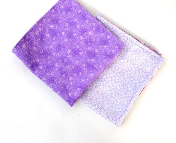 Vintage Purple Flowers Cloth Napkin Set