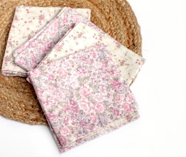Vintage Floral Cloth Napkins Made in NC