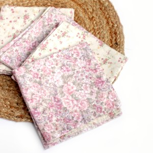 Vintage Floral Cloth Napkins Made in NC