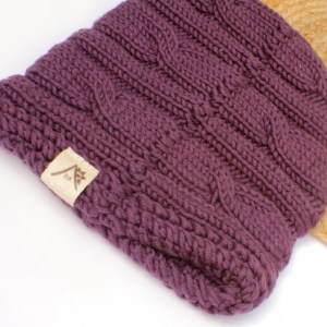 Fair Trade Knit Plum Winter Hat