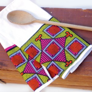 African Print Cafe Towel