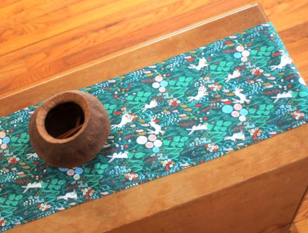 Organic Green Table Runner