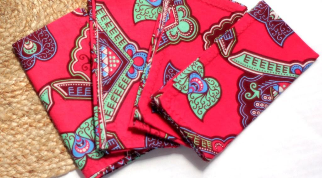 African Wax Print Pink napkins