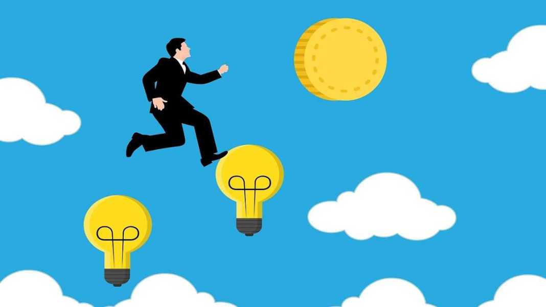illustrations rich idea businessman - steps to become wealthy financially