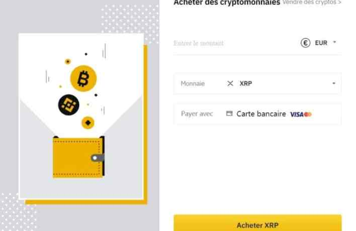 Purchase of Ripple on Binance by bank card