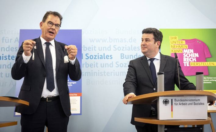 At a joint press conference on Tuesday, German Development Minister Gerd Müller and Federal Labor Minister Hubertus Heil announced the so-called Supply Chain Act