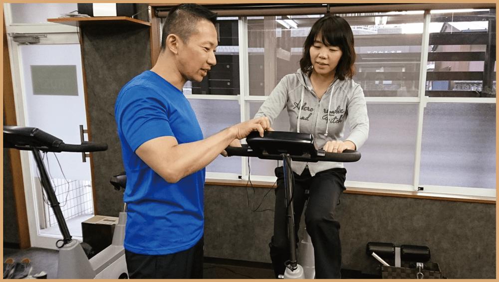 エアロバイク_PERSONAL-TRAINING-NAGOYA.COM【TRUST 池山ひろき】パーソナルトレーニングジム・名古屋・中村区
