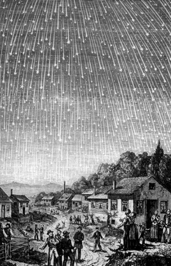 Image result for 1803 – Thousands of meteors fall from the skies in L'Aigle, France;