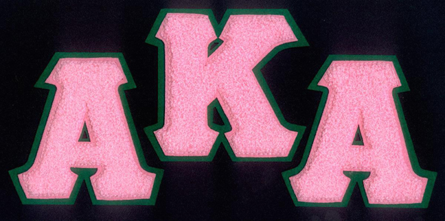 AKA Chenille Letters Patch
