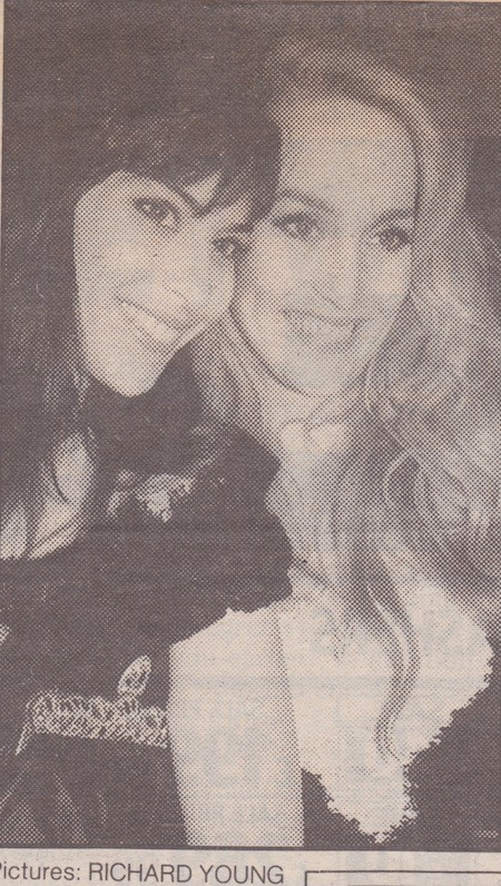 Julie Anne Rhodes and Jerry Hall