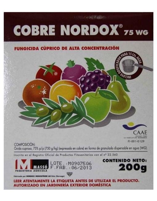 Fungicida Cobre Nordox 75 WG 200 gr.