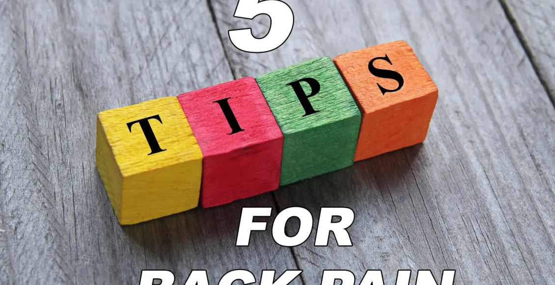 chiropractic tips for back pain