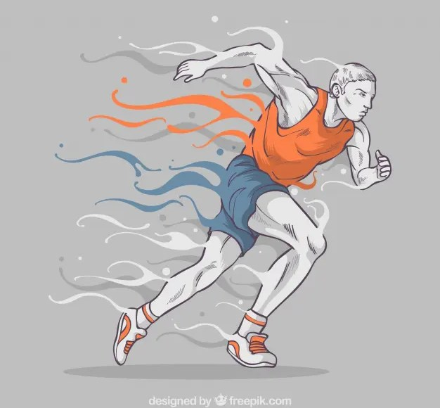 illustration of man running
